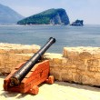 Stock Photo: Old cannon in fortress Budva