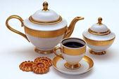Elegante servizio da tè — Foto Stock