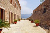 Old stone italian terrace — Stock Photo