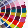 Detail of RAL color chart — Stock Photo