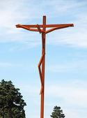 Współczesny krzyż (fatima, Portugalia) — Zdjęcie stockowe