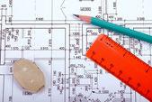Renovation blueprint — Stock Photo