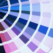 Detail of RAL color chart - Stock Photo