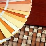 Open pantone sample colors catalogue — Stock Photo