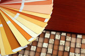 Open pantone sample colors catalogue — Stock Photo