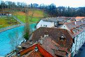 Bern and Aare River, Switzerland — Stock Photo