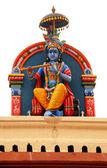 Hindu deity at Sri Mariamman Temple in Singapore — Stock Photo