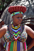 African woman in traditional accessories(South Africa) — Foto Stock