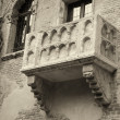 Famous balcony of Juliet - Stock Photo