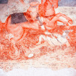 Antique wall fresco-St. George - Stock Photo