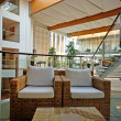 Hotel lobby in contemporary style - Stock Photo
