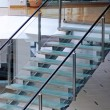 Modern glass staircase - Foto de Stock
