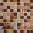 Mix shiny nacre glass mosaic in beige colors - Stock Photo
