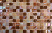 Mix shiny nacre glass mosaic in beige colors — Stock Photo