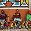 African ndebele women sell traditional dolls(South Africa) — Stock Photo #16206635