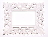 Vintage white picture frame — Stock Photo