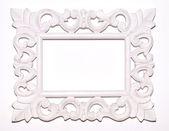 Vintage white picture frame — Stock Photo
