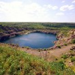 Royalty-Free Stock Photo: Blue lake in open pit