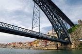 Dom Luis I Bridge in Porto, Portugal — Stock Photo