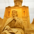 ������, ������: Sand sculpture of russian orthodox church Moscow