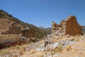 Ruin windmills in the mountains, Lassithi, Crete(Greece) — Stock Photo