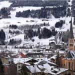 Winter village in the Austrian Alps — Stock Photo