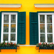 Typical bavarian windows — Stockfoto