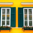 typisch bayerische windows — Stockfoto