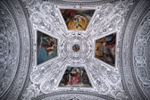 Ceiling and dome in Salzburg Cathedral , Austria — Stock Photo