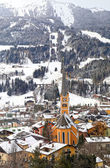Winter village in the Austrian Alps — Stock Photo