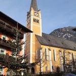 Alpine village Bad Hofgastein — Stock Photo