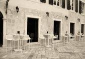 Italian street cafe — Stock Photo