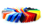 Multicolor plastics — Stock Photo