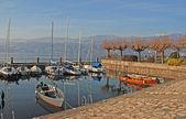 Boats on Lake Como, Italy. — Stock Photo
