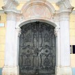 Medieval door with ornate metal pattern(Salzburg) — Stock Photo