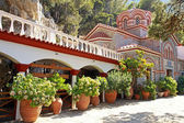 Beautiful old garden of monastery(Crete, Greece) — Stock Photo
