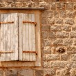 Window with shutters in old wall (Italia) - Foto de Stock