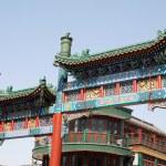 Chinese Qianmen Gate to Tiananmen Square(Beijing) — Stock Photo