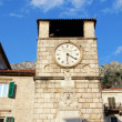 Medieval clock tower(Kotor, Montenegro) - Stock Photo