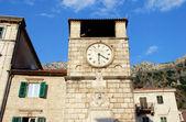 Medieval clock tower(Kotor, Montenegro) — Stockfoto