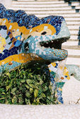 """Lizard"" fountain in Parc Guell(Barcelona, Spain) — Stock Photo"