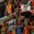 Statues of the Sri Mariamman Hindu temple, Singapore — Stock Photo #22081609