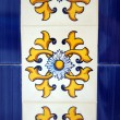 Handpainted tiles — Stock Photo