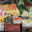 Asian fresh vegetable market — Stock Photo
