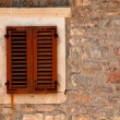 Window with shutters in old wall (Italy) — Foto de Stock