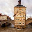 The Old Town Hall in Bamberg(Germany) in winter - Stock Photo
