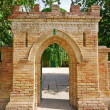 Brick gate to an old castle — Stock Photo