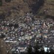 Aerial view of mountain village Bad Hofgastein, Austrian Alps — Stock Photo