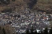 Aerial view of mountain village Bad Hofgastein, Austrian Alps — Foto de Stock