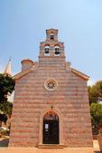 Eski kasaba budva, karadağ'ın akdeniz ortodoks kilisesi — Stok fotoğraf